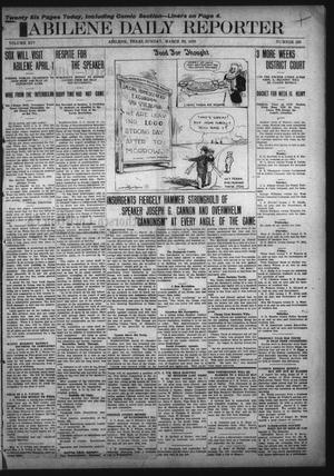 Primary view of object titled 'Abilene Daily Reporter (Abilene, Tex.), Vol. 14, No. 189, Ed. 1 Sunday, March 20, 1910'.