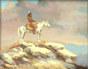"Primary view of object titled '""Indian on Horseback""'."