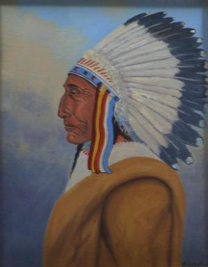 "Primary view of object titled '""Stoneface, Blackfoot Chief""'."
