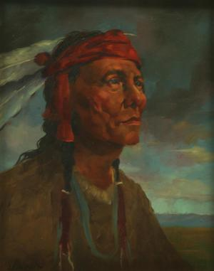 "Primary view of object titled '""Red Otter, Sioux Medicine Man""'."