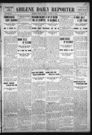 Primary view of object titled 'Abilene Daily Reporter (Abilene, Tex.), Vol. 14, No. 336, Ed. 1 Sunday, August 14, 1910'.