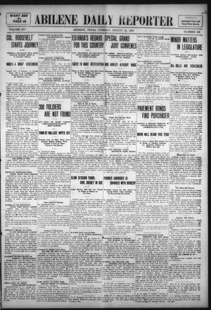 Primary view of object titled 'Abilene Daily Reporter (Abilene, Tex.), Vol. 14, No. 345, Ed. 1 Tuesday, August 23, 1910'.