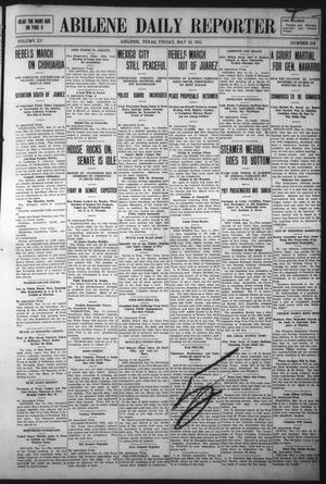Primary view of object titled 'Abilene Daily Reporter (Abilene, Tex.), Vol. 15, No. 213, Ed. 1 Friday, May 12, 1911'.