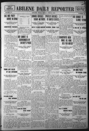 Primary view of object titled 'Abilene Daily Reporter (Abilene, Tex.), Vol. 15, No. 243, Ed. 1 Friday, June 16, 1911'.