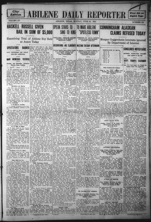Primary view of object titled 'Abilene Daily Reporter (Abilene, Tex.), Vol. 15, No. 251, Ed. 1 Monday, June 26, 1911'.