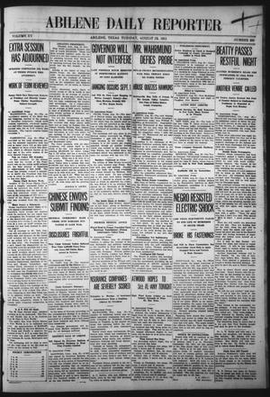Primary view of object titled 'Abilene Daily Reporter (Abilene, Tex.), Vol. 15, No. 300, Ed. 1 Tuesday, August 22, 1911'.