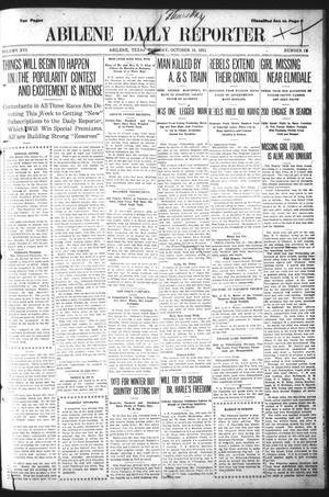 Primary view of object titled 'Abilene Daily Reporter (Abilene, Tex.), Vol. 16, No. 36, Ed. 1 Thursday, October 19, 1911'.
