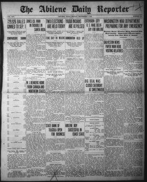 Primary view of object titled 'The Abilene Daily Reporter (Abilene, Tex.), Vol. 16, No. 219, Ed. 1 Monday, September 9, 1912'.