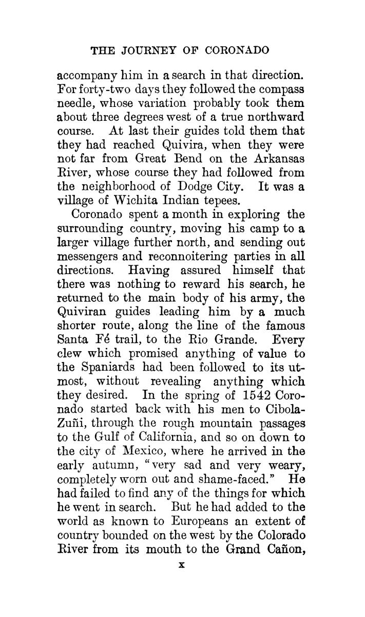 The journey of Coronado, 1540-1542, from the city of Mexico to the Grand Canon of the Colorado and the buffalo plains of Texas, Kansas and Nebraska, as told by himself and his followers                                                                                                      [Sequence #]: 10 of 288