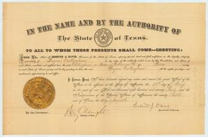 Primary view of object titled 'Appointment certificate'.