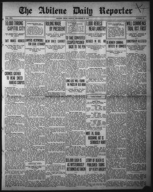 Primary view of object titled 'The Abilene Daily Reporter (Abilene, Tex.), Vol. 16, No. 231, Ed. 1 Monday, September 23, 1912'.