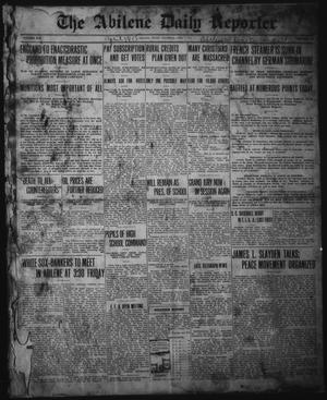 Primary view of object titled 'The Abilene Daily Reporter (Abilene, Tex.), Vol. 19, No. 23, Ed. 1 Thursday, April 1, 1915'.