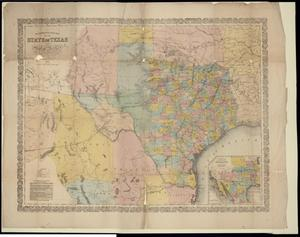 "Primary view of object titled '""Richardsons New Map of the State of Texas including Part of Mexico""'."