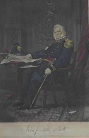 Primary view of object titled 'Portrait of Winfield Scott'.