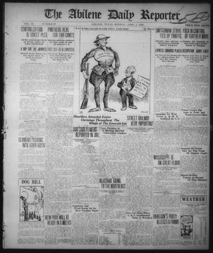 Primary view of object titled 'The Abilene Daily Reporter (Abilene, Tex.), Vol. 33, No. 97, Ed. 1 Monday, April 5, 1920'.