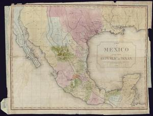 "Primary view of object titled '""A Map of Mexico and the Republic of Texas""'."