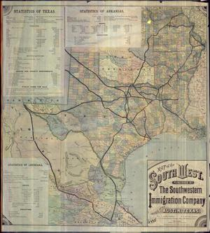 "Primary view of object titled '""Map of the South West""'."