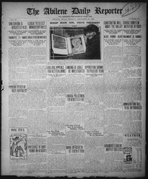 Primary view of object titled 'The Abilene Daily Reporter (Abilene, Tex.), Vol. 33, No. 314, Ed. 1 Monday, November 29, 1920'.