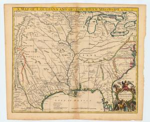 "Primary view of object titled '""A map of Louisiana and of the River Mississipi""'."
