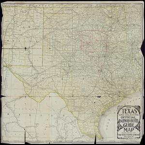"Primary view of object titled '""The Texas and Oklahoma Official Railway & Hotel Guide Map""'."