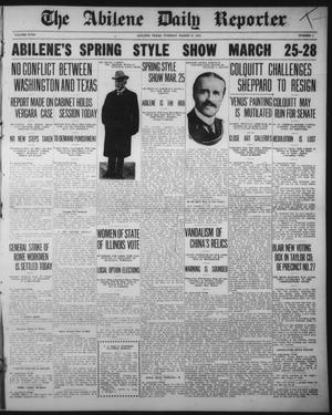 Primary view of object titled 'The Abilene Daily Reporter (Abilene, Tex.), Vol. 18, No. 1, Ed. 1 Tuesday, March 10, 1914'.