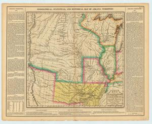 Primary view of Geographical, Statistical, and Historical Map of Arkansa Territory:  Map of Arkansa and other Territories of the United States