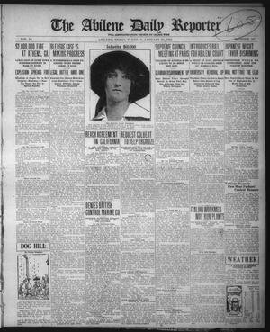 Primary view of object titled 'The Abilene Daily Reporter (Abilene, Tex.), Vol. 34, No. 52, Ed. 1 Tuesday, January 25, 1921'.