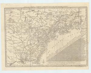 "Primary view of object titled '""A General Map of North America; from the latest Observations""'."