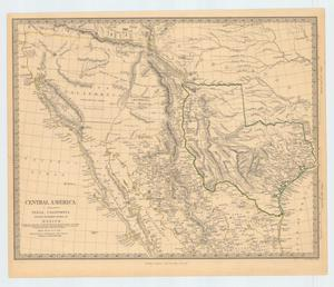 "Primary view of object titled '""Central America:  II. Including Texas, California and the northern states of Mexico""'."