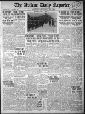 Primary view of object titled 'The Abilene Daily Reporter (Abilene, Tex.), Vol. 34, No. 216, Ed. 1 Wednesday, September 7, 1921'.