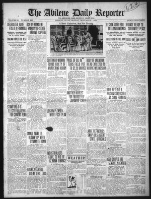 Primary view of object titled 'The Abilene Daily Reporter (Abilene, Tex.), Vol. 34, No. 260, Ed. 1 Monday, November 7, 1921'.