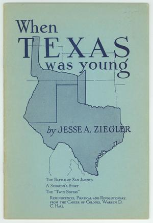 Primary view of object titled 'When Texas Was Young'.
