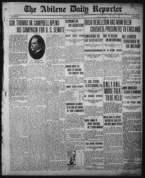 Primary view of The Abilene Daily Reporter (Abilene, Tex.), Vol. 20, No. 38, Ed. 1 Monday, May 1, 1916