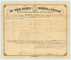 Primary view of object titled 'Land Grant to J.C. Clark'.
