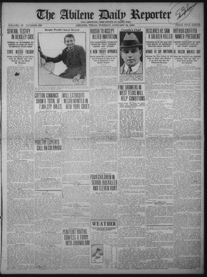Primary view of object titled 'The Abilene Daily Reporter (Abilene, Tex.), Vol. 34, No. 303, Ed. 1 Tuesday, January 10, 1922'.