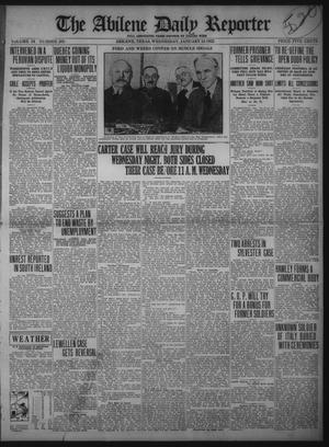 Primary view of object titled 'The Abilene Daily Reporter (Abilene, Tex.), Vol. 34, No. 305, Ed. 1 Wednesday, January 18, 1922'.