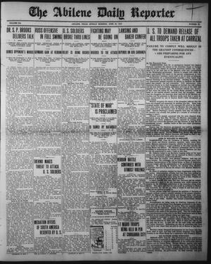 Primary view of object titled 'The Abilene Daily Reporter (Abilene, Tex.), Vol. 20, No. 85, Ed. 1 Sunday, June 25, 1916'.