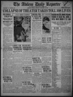 Primary view of object titled 'The Abilene Daily Reporter (Abilene, Tex.), Vol. 34, No. 306, Ed. 1 Monday, January 30, 1922'.