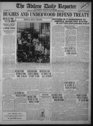 Primary view of object titled 'The Abilene Daily Reporter (Abilene, Tex.), Vol. 34, Ed. 1 Sunday, March 12, 1922'.
