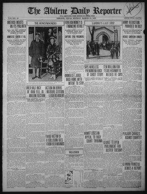 Primary view of object titled 'The Abilene Daily Reporter (Abilene, Tex.), Vol. 34, Ed. 1 Monday, March 13, 1922'.