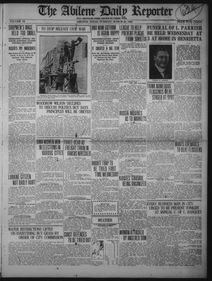 Primary view of object titled 'The Abilene Daily Reporter (Abilene, Tex.), Vol. 34, Ed. 1 Tuesday, March 28, 1922'.