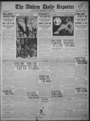 Primary view of object titled 'The Abilene Daily Reporter (Abilene, Tex.), Vol. 34, Ed. 1 Wednesday, April 5, 1922'.