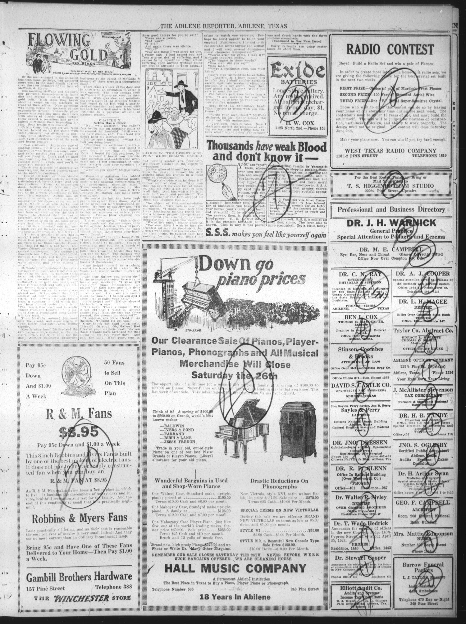 The Abilene Daily Reporter Abilene Tex Vol 24 No 320 Ed