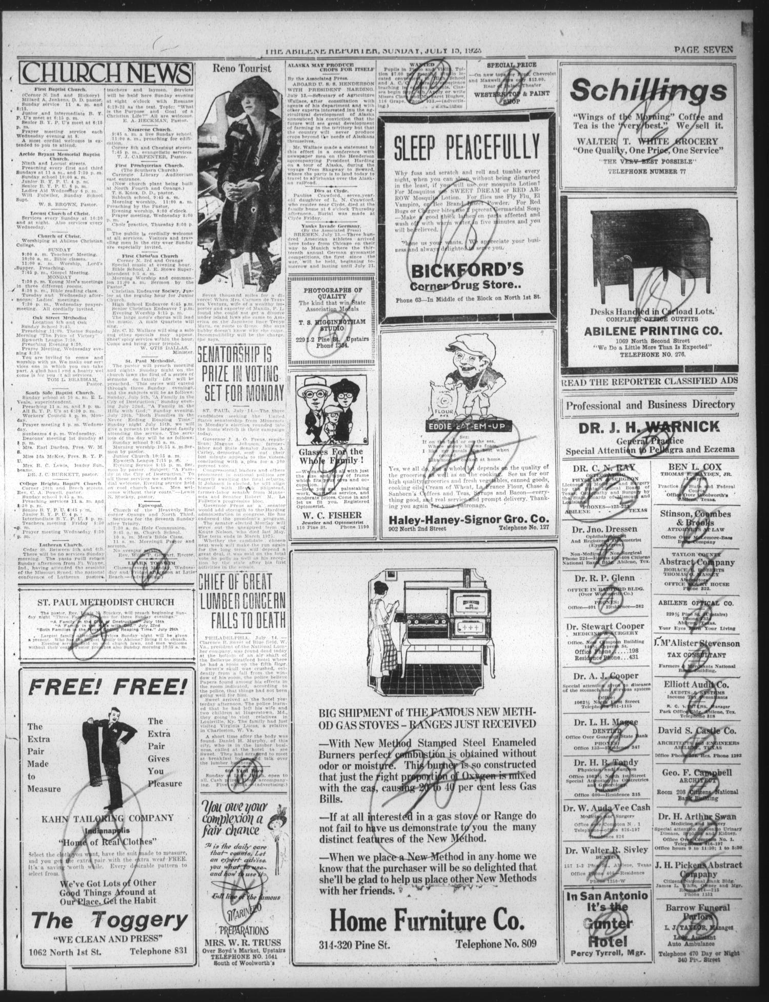 The Abilene Daily Reporter Abilene Tex Vol 25 No 65 Ed 1