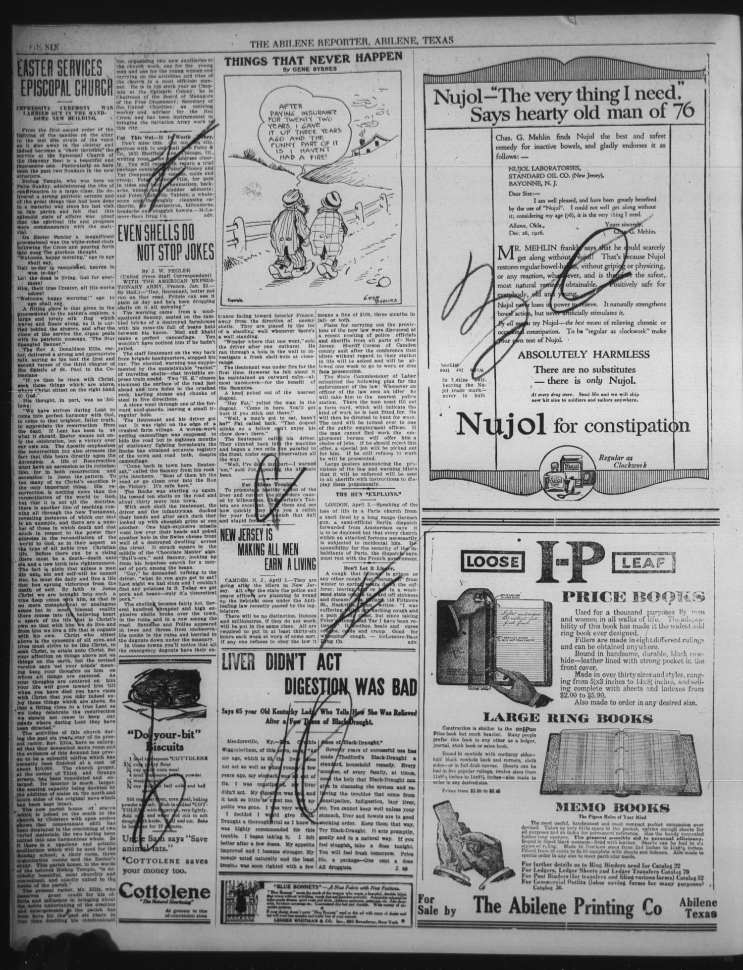 The Abilene Daily Reporter (Abilene, Tex ), Vol  22, No  13, Ed  1