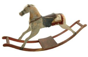 Primary view of object titled 'Rocking horse'.