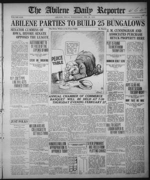 Primary view of object titled 'The Abilene Daily Reporter (Abilene, Tex.), Vol. 22, No. 71, Ed. 1 Wednesday, February 26, 1919'.