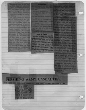 Primary view of object titled '[Newspaper Clippings Relating to Jett Falls Death]'.