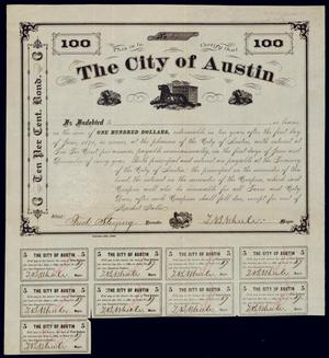 Primary view of object titled 'Bond for $100'.