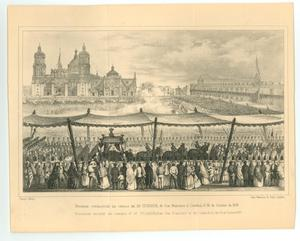 "Primary view of object titled '""Engraving of the Funeral of Iturbide""'."